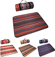 Picnic Blanket, Large Foldable Beautiful Beach Waterproof, Sand Proof Picnic Blanket. Comfortable for Family P