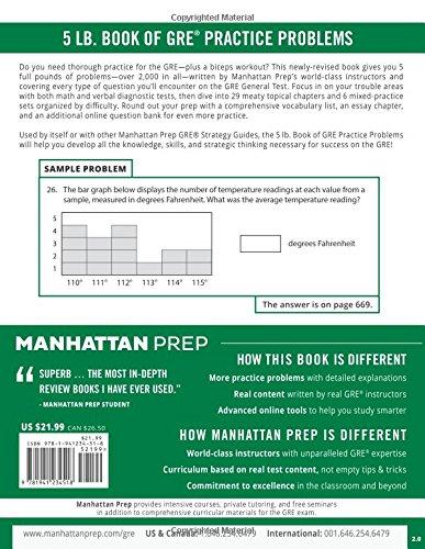 Mua 5 lb. Book of GRE Practice Problems (Manhattan Prep 5