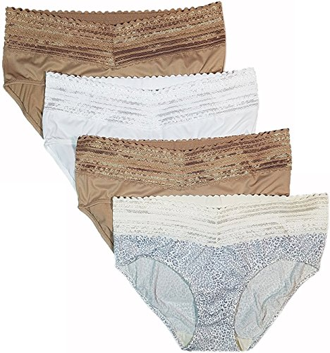 Warner's Women's No Pinches No Problems Hipster Panties 4-Pack Small -