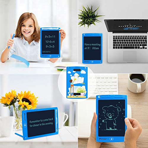 PROGRACE LCD Writing Tablet for Kids Learning Writing Board Magnetic Erase Writing Pad Smart Doodle Drawing Board for Boys Home School Office Portable Electronic Digital Handwriting Pad 8.5