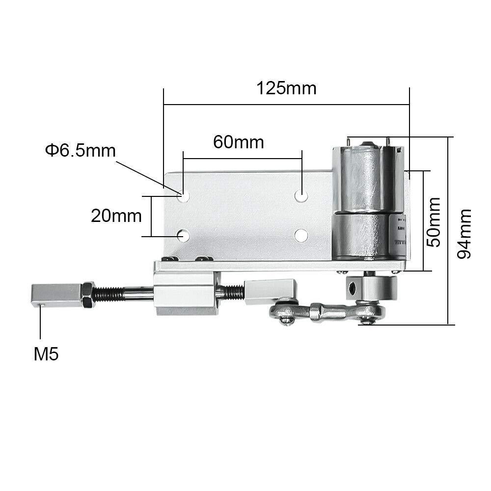 12 mm 16 mm Motor de reciprocidad de movimiento lineal el/éctrico para ciclismo 20 mm 12 Volt 24 V 12 V 100 100 RPM