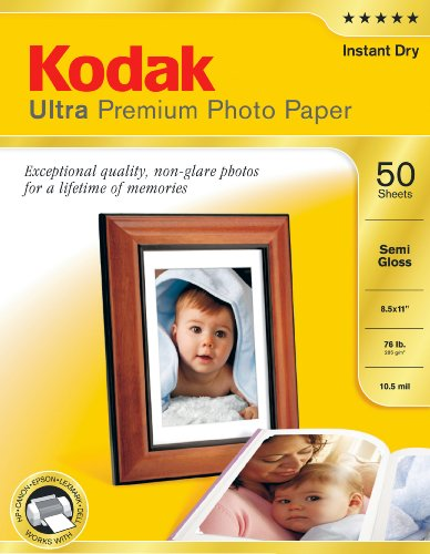 Kodak Ultra Premium Photo Paper Semi-Gloss - 50 sheets - ...