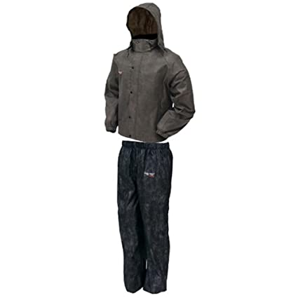 20b3d5f564 Amazon.com   Frogg Toggs AS1310-105 All Sports Rain Suit Stone Black  XX-Large   Sports   Outdoors