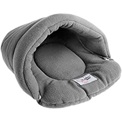 Efferre Field Pet Dog Puppy Cat Nest Bed Soft Warm Cave House Winter Sleeping Bag Mat Pad (S)
