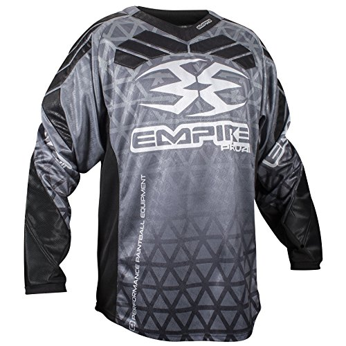 Empire 2016 Prevail F6 Paintball Jersey - Black - 2X-Large (Empire Contact Gloves)