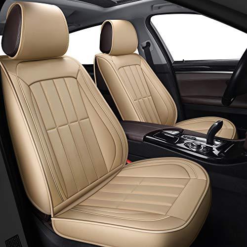 LUCKYMAN CLUB Car Seat Covers fit Most Sedan SUV fit for Toyota Tacoma Corolla Camry Kia Sportage Soul Optima Forte Sorento Vw Jetta Passat (Full Set, Beige)