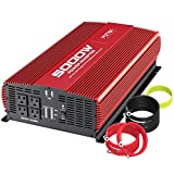 POTEK 5000W Power Inverter DC 12V to AC 110V Car Inverter 4 AC Outlets with 2 USB Outputs