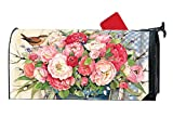 Bucket Full of Peonies MailWraps Magnetic Mailbox Cover #01662