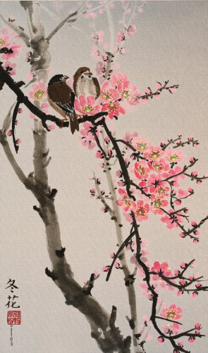 Blossom Colored Background Picture Perching product image