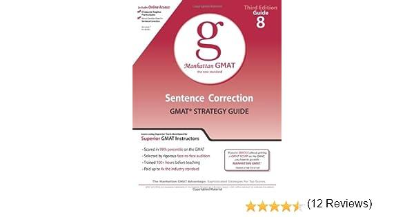 Sentence Correction GMAT Preparation Guide (Manhattan GMAT ...