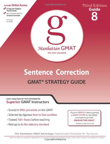 Sentence Correction GMAT Strategy Guide (Manhattan Gmat Prep)