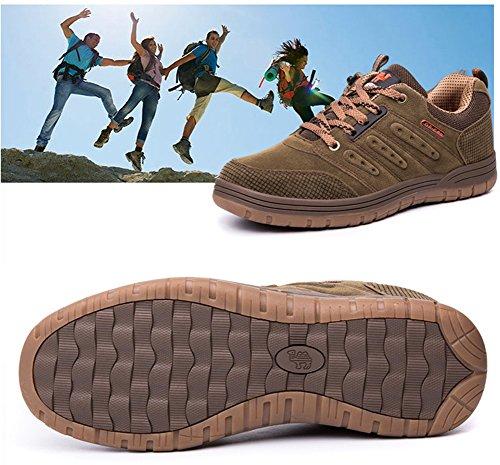 Wasserdichte Rutschfeste Schuhe E Wanderschuhe Gelb Low Wanderschuhe Frauen Männer Minetom Grün Sommer Outdoor Rise Frühling Unisex Trekkingschuhe Klettern OgBWYwq