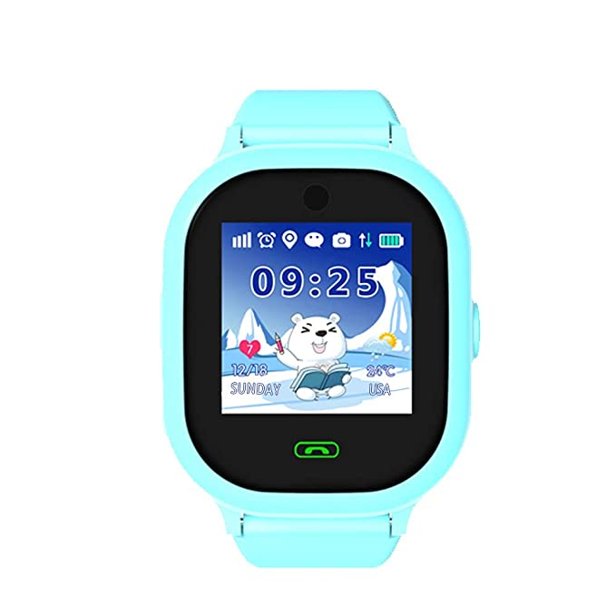 Watches Childrens Smart Waterproof Watch Camera Positioning Anti-lost Call Wristband Silicone Strap Pink Purple Blue Childrens Sport