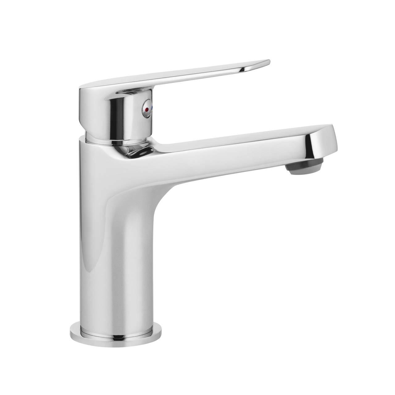 Einhebel Waschtischarmatur Badarmatur Wasserhahn für das Waschbecken - Modell JASMIN - Chrom