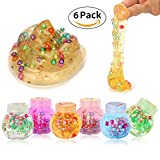 jelly craft bag - Pumpkin Crystal Jelly Clear Slime Stress Relief Toy Sludge Toys for Kids and Adults, Super Soft and Non-sticky - 6 Pack