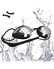 VETOKY Swimming Goggles, Racing Swim Goggles UV Protection No Leaking Anti Fog Crystal Clear Vision for Adults, Men, Women and Kids Age 8+
