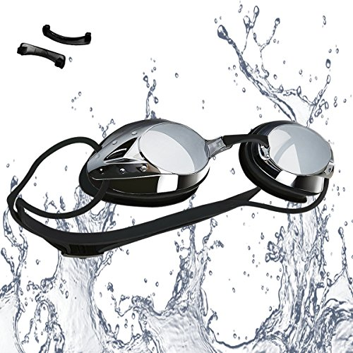 Swimming Goggles—Vetoky Mirrored Swim Goggle Anti Fog UV Protection No Leaking Comfortable for Kids Girls Boys Adults Women Men - Swim Like A - Swim Goggles Mens