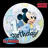 Mickey Mouse 1st Birthday, 22 inch Single Bubble Balloon