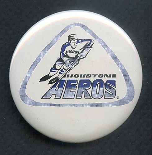 (1973-74 WHA Hockey Buttons Houston Aeros EX-MT 350128 Kit Young Cards)