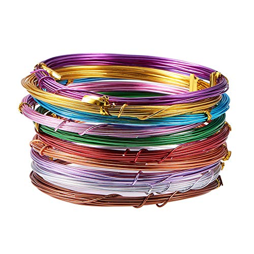 luminum Craft Wire 18 Guage Flexible Artistic Floral Colored Jewely Beading Wire for DIY Jewelry Craft Making Each Roll 16 Feet ()