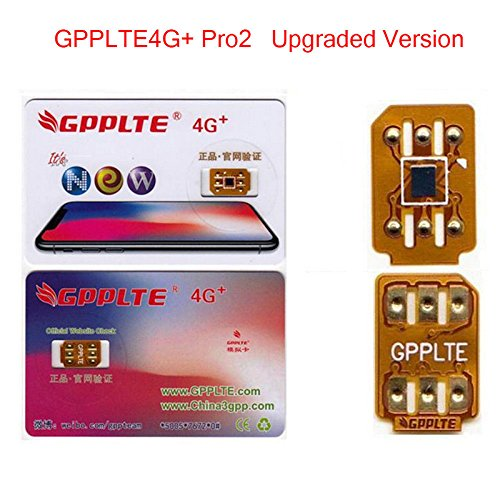 GPPLTE4G+ Pro2 for iPhone X/8/8p/7/7p/6s/6sp/6p Unlock Card(White)