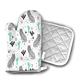 wolf steam oven - OIT43By Wolf Cactus Oven Mitts and Pot Holders for Kitchen Set, 1 Oven Gloves for BBQ Cooking Baking