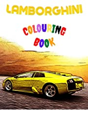 Lamborghini Colouring Book: 41 Inspirational Designs for adult and kids