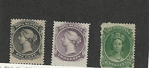 Nova Scotia, Postage Stamp, 8-9, 11 Mint Hinged, 1860-63