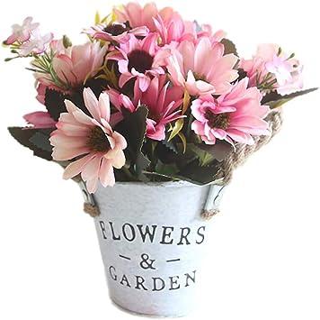 Amazon Com Cupcinu Artificial Silk African Daisy Plant Flower