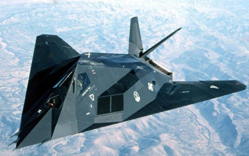 Military F-117 Nighthawk Stealth Fighter - 24X36 Poster
