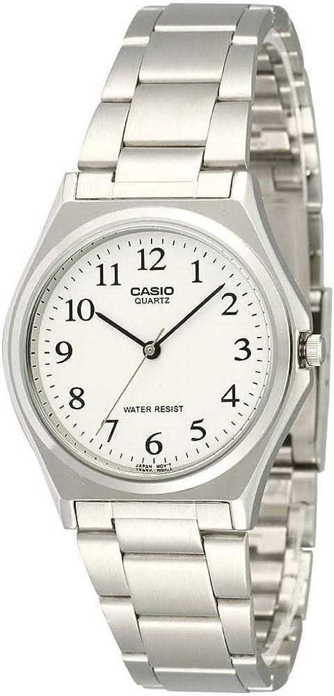 CASIO 19402 MTP-1130A-7BR - Reloj Caballero Cuarzo Brazalete metálico dial Blanco