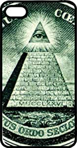 The All Seeing Eye From American Treasure Black Rubber Case for Apple iPhone 4 or iPhone 4s
