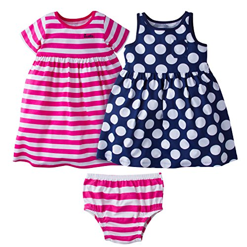 2483fb5ae6ae Galleon - Gerber Baby Girls  3 Piece Dress Set