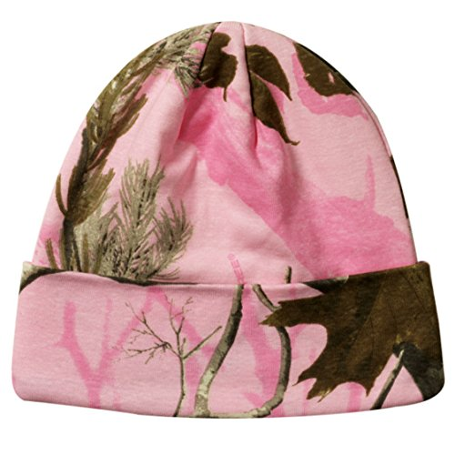 Realtree Licensed Camo Knit Cuff Beanie Pink
