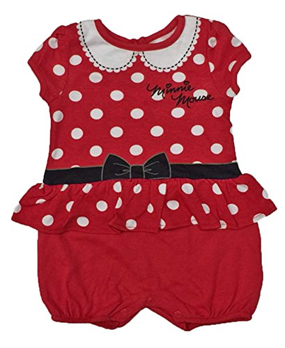Minnie Mouse Costumes Shirt (Disney Minnie Mouse Baby Girls One Piece Romper (18 Months))
