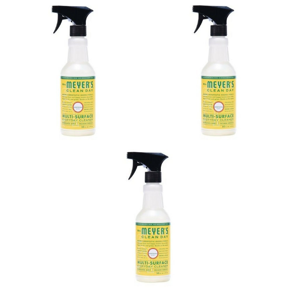 Mrs. Meyer's Clean Day Multi-Surface Everyday Cleaner Honeysuckle, 16.0 Fluid Ounce, Pack of 3