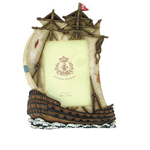 Rockin Gear Picture Frame PIRATE SHIP Nautical Themed Photo Frame - Holds a 4