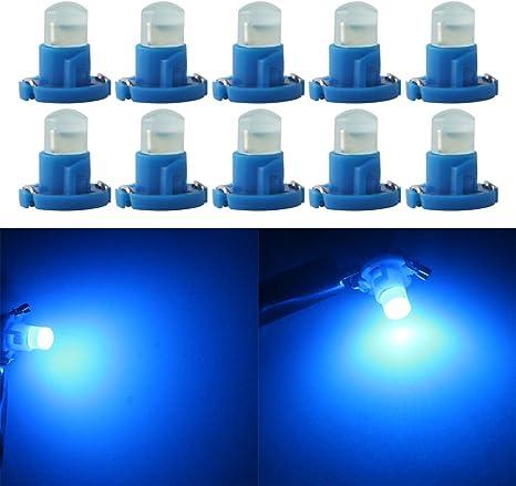 Qasim 10x T4.2 LED COB Bombillas Azul 1SMD para Luz de Salpicadero de Coche Instrumento Velocímetro Panel DC12V