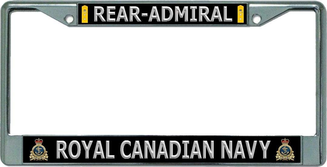 Royal Canadian Navy Rear-Admiral Chrome License Plate Frame