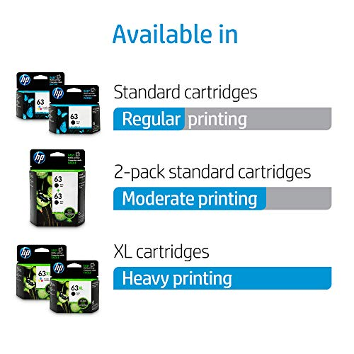 Large Product Image of HP 63 Black Original Ink Cartridge (F6U62AN)
