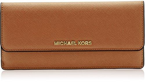 MICHAEL Michael Kors Jet Set Travel Slim Saffiano Leather Wallet, Color Acorn