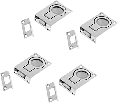 MagiDeal Stainless Steel Lift Handle Flush Pull Locker Hatch Latch with Key