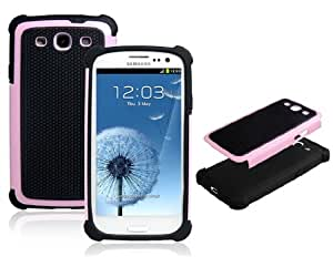 Wrui Silicone & Plastic Case for Samsung Galaxy S3 I9300 (Pink & Black)