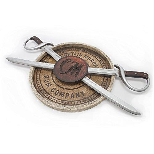 Captain Morgan Rare 3D Swords Wood Wall Art Sign
