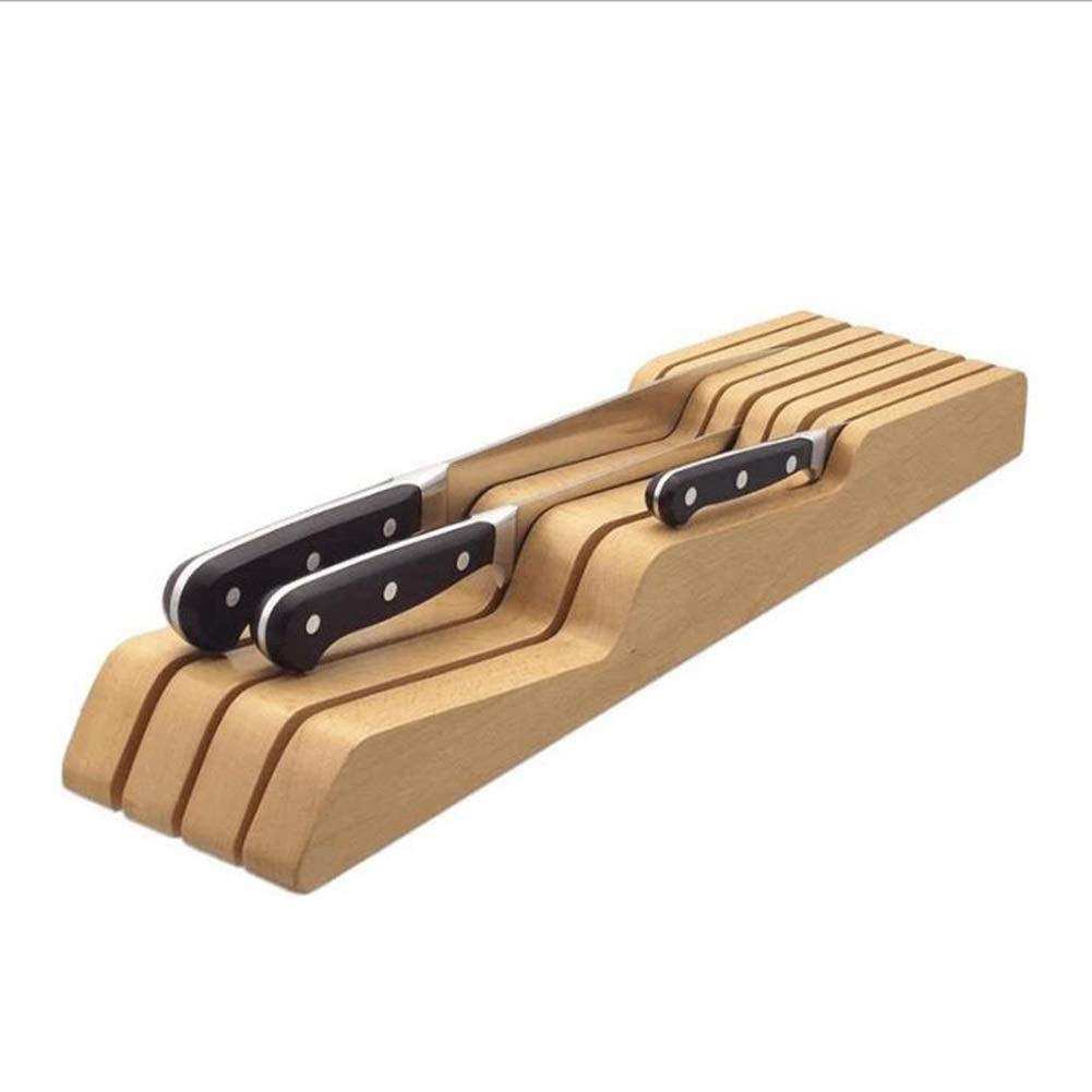 Solid Wood Drawer Type Knife Holder Kitchen Products Horizontal Horizontal Wood Knife Holder Storage Rack by Qwer