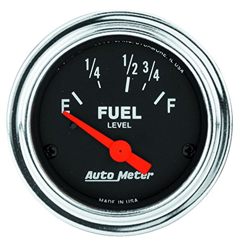 (Auto Meter 2518 Traditional Chrome Electric Fuel Level Gauge)