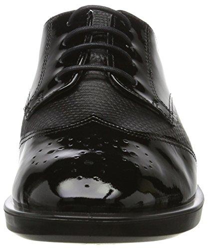 Black de Derby Zapatos Black para Shape Negro 15 M Mujer Ecco Cordones qUwavIU4