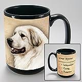 Dog Breeds (A-K) Great Pyrenees 15-oz Coffee Mug Bundle with Non-Negotiable K-Nine Cash by Imprints Plus (090)