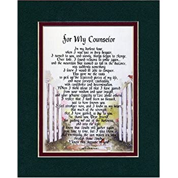 Amazon.com: Gift Present Poem Thank-You For A Counselor Or ...