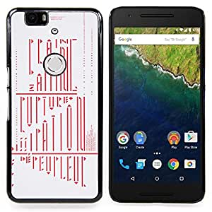 /Skull Market/ - Calligraphy Riddle Mysterious Red For Huawei Nexus 6P - Mano cubierta de la caja pintada de encargo de lujo -